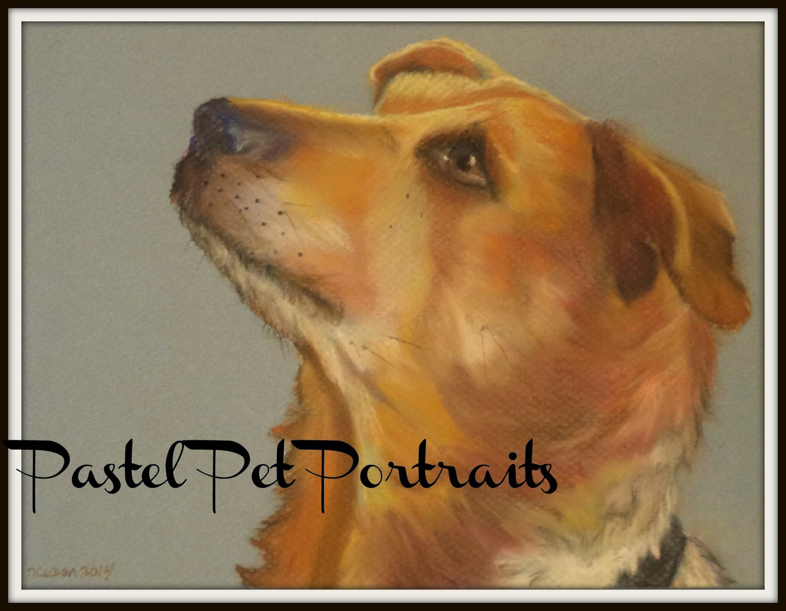 pet portrait, dog, pastel painting, ncwren