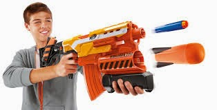 The Nerf Demolisher gun
