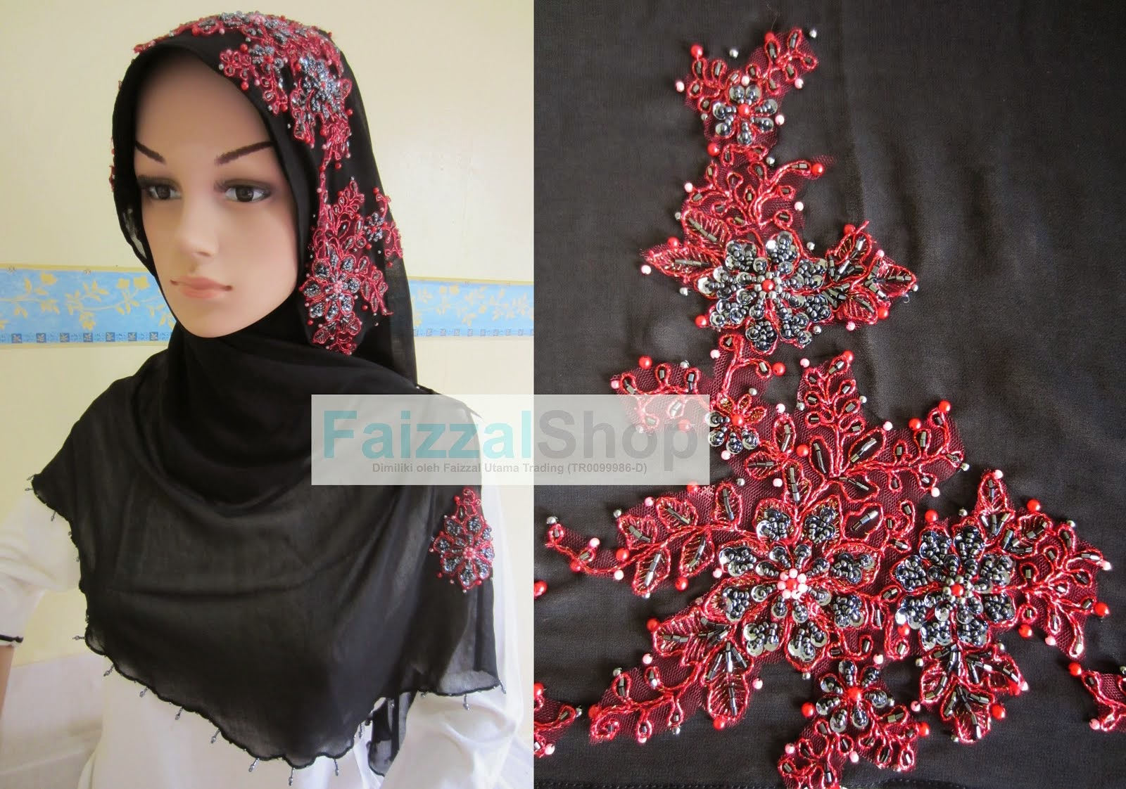 SHAWL HALF MOON