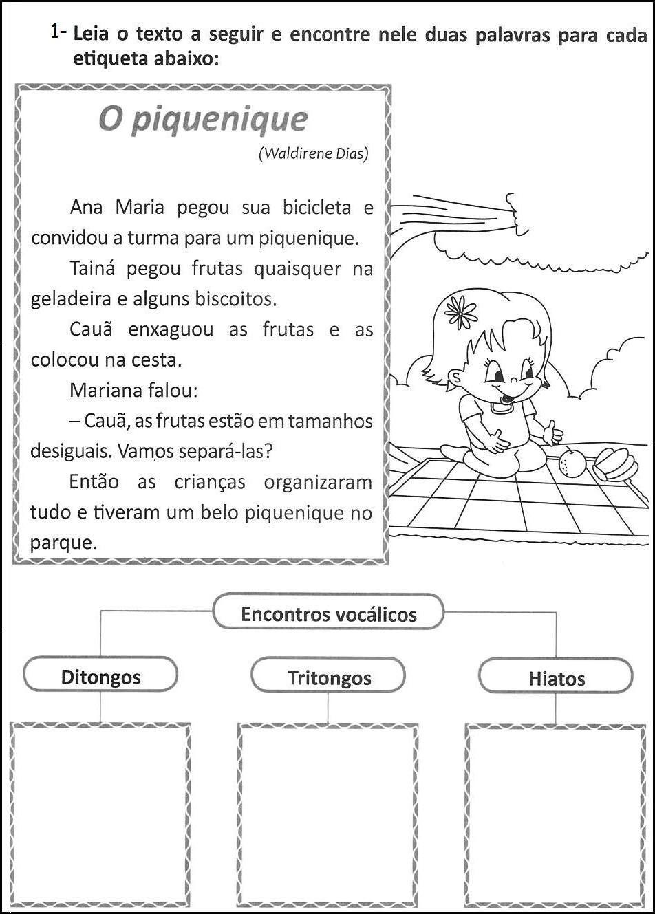TRITONGO HIATO ATIVIDADES EXERC  CIOS 3   4   5   ANOS PARA IMPRIMIR