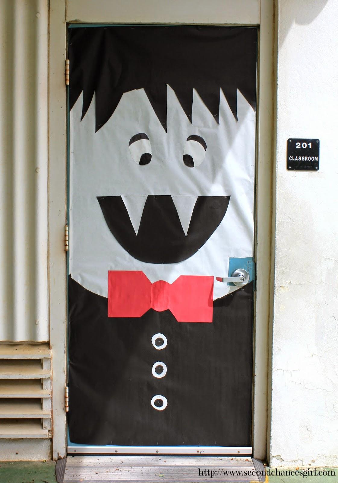 Dracula vampire classroom door