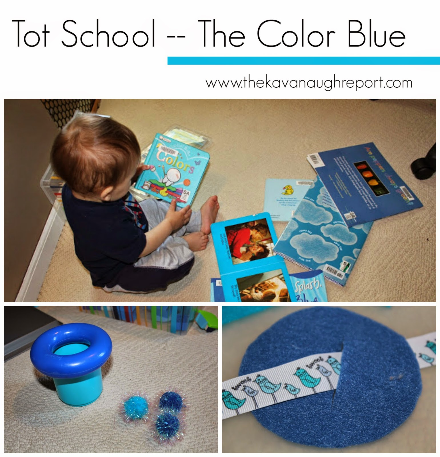 Montessori, colors, blue, tot school, preschool