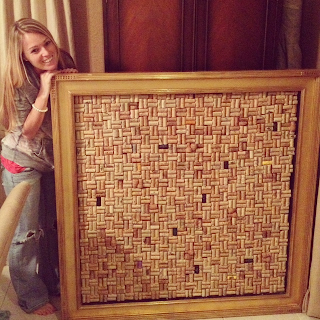 giant wine cork board project
