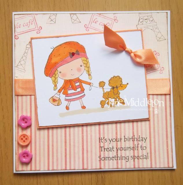 Cute critter cards mimi in paris x3 for Paris orange card