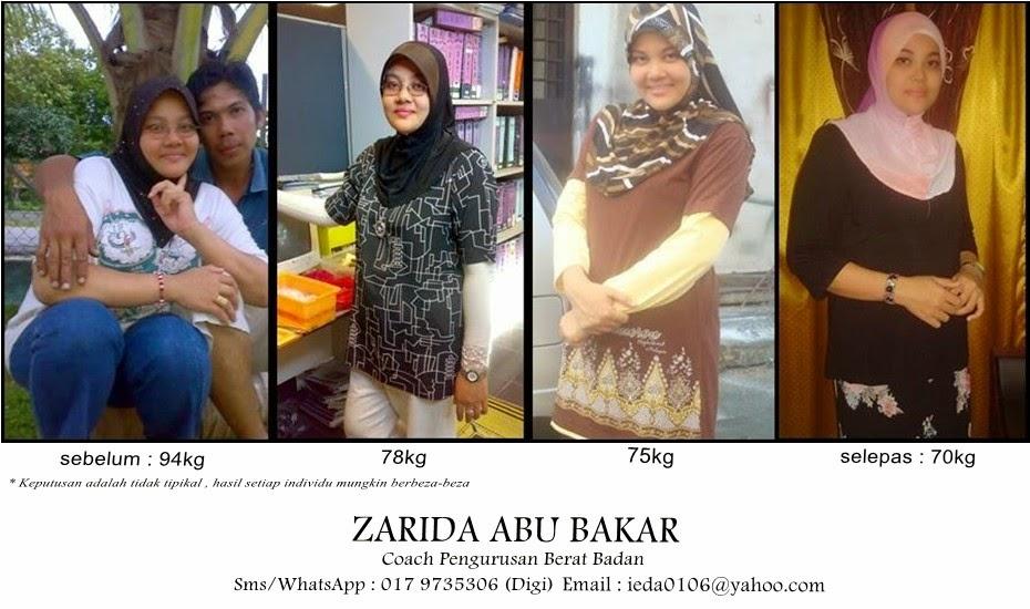 Coach Pengurusan Berat Badan Zarida Abu Bakar
