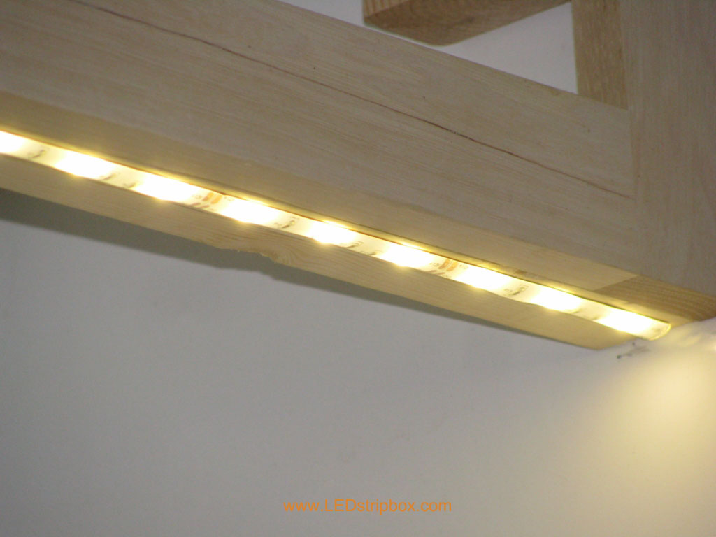Led Strip Lights In Kitchen These Come Set Up For Plug In Or Hard Wire Our Electrician Had No