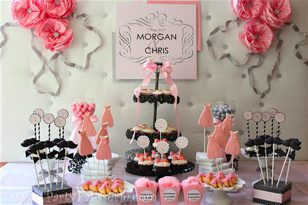 Black And Pink Wedding Decorations