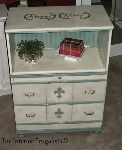 4-drawer dresser now faux secretary desk closed