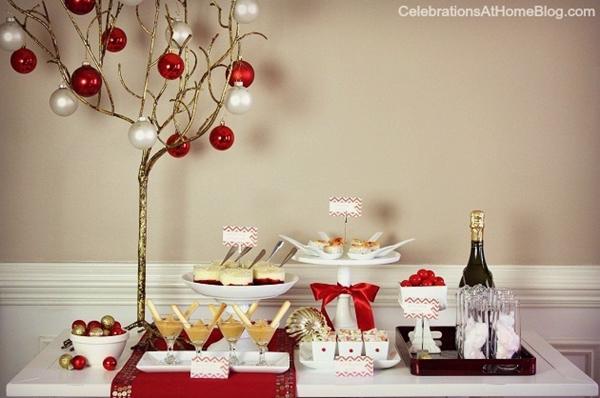mesa de natal de aperitivos