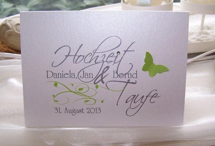 Einladungskarten Hochzeit+Taufeu003dTraufe