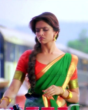 Deepika-padukone-cute-half-saree-Chennai-express-movie