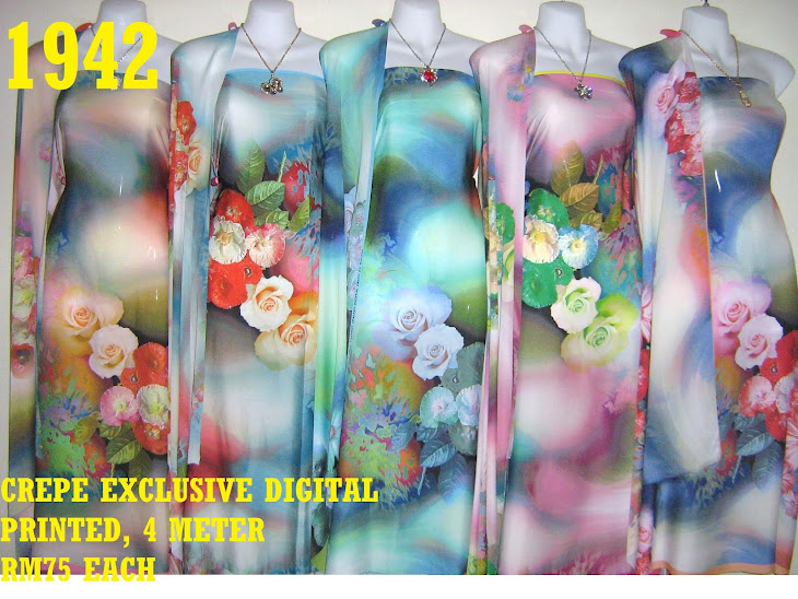 CDP 1942: CREPE EXCLUSIVE DIGITAL PRINTED, 4 METER, 5 COLORS