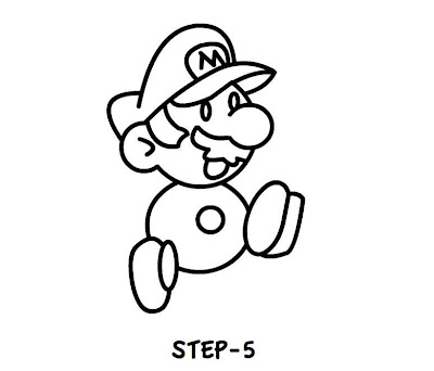 how to draw mario characters easy