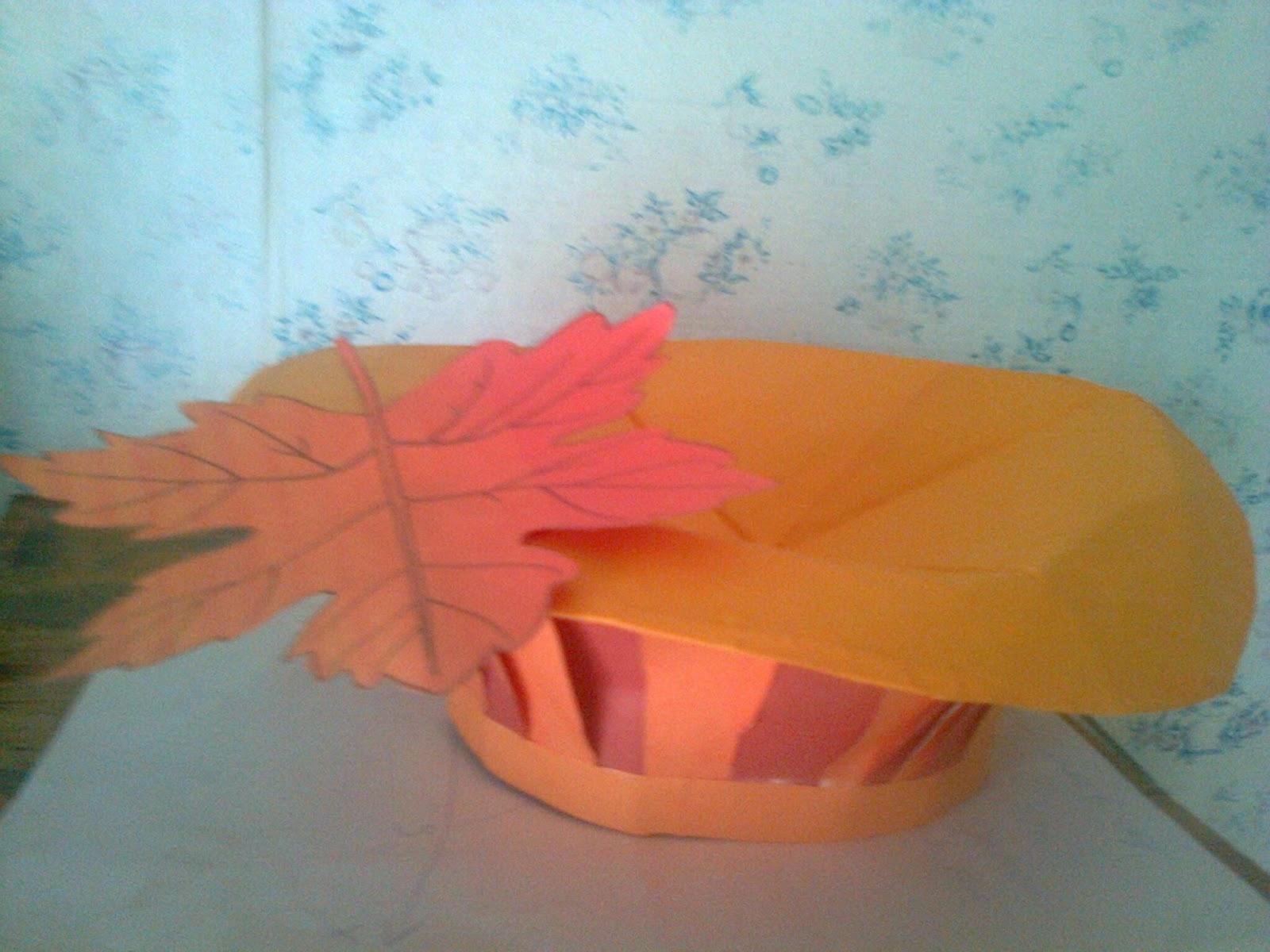 как сделать шапочку грибочка из бумаги своими руками