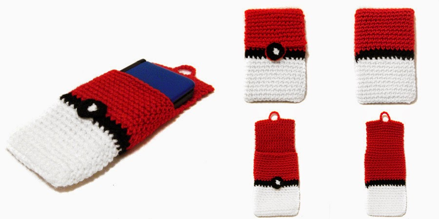 I Crochet Things Free Pattern 3ds Xl Pokeball Cover