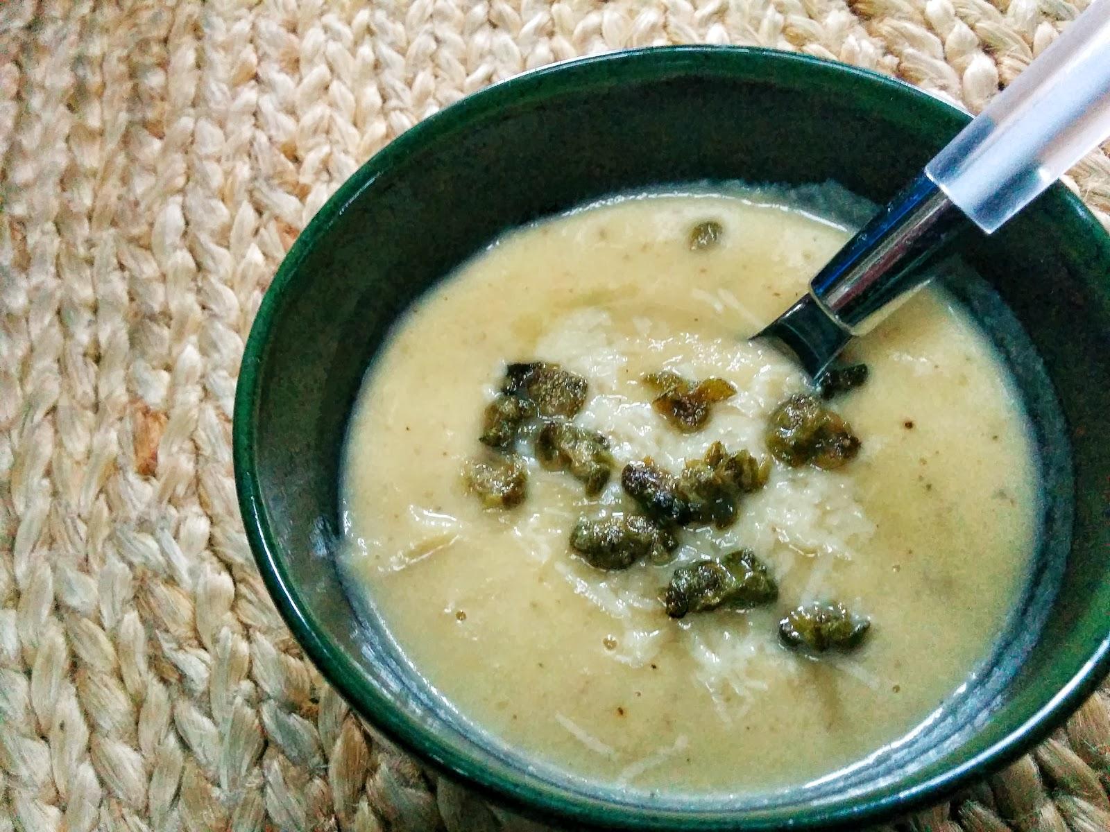 Roasted Cauliflower & Leek Soup II