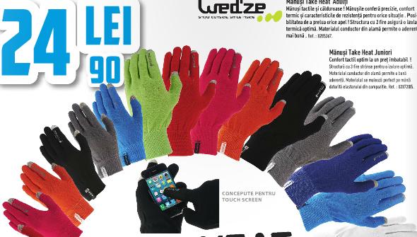 Manusi touchscreen pentru sezonul de iarnă 2014