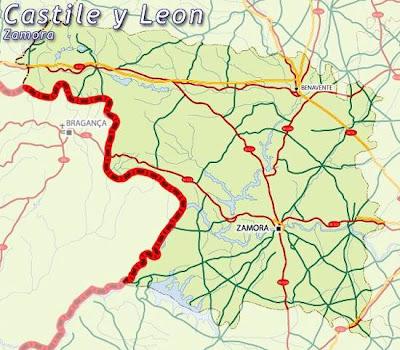 Zamora Mapa Ciudad de la Región