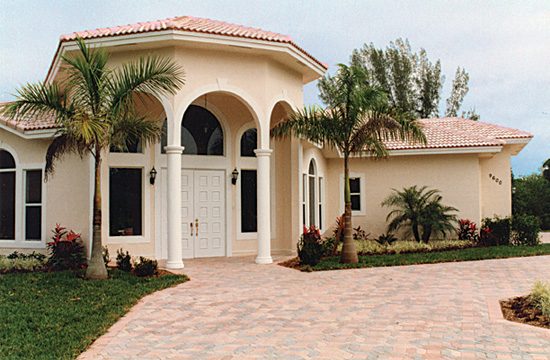 Spanish Style Stucco House