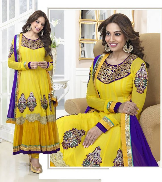 Bipasha Basu Anarkali Suits Eid Collection 2013-14