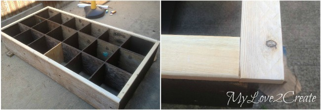 MyLove2Create, Cubby Shelf Revamp, seeing if face trim fits