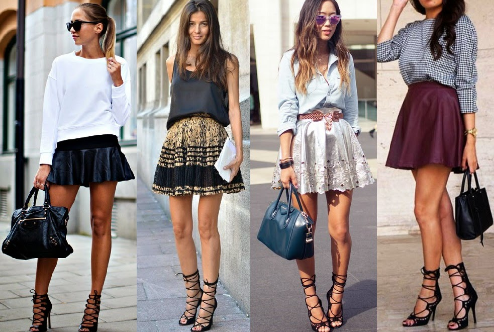 Designer Lace up Sandals Paired up With Lace-up Sandals