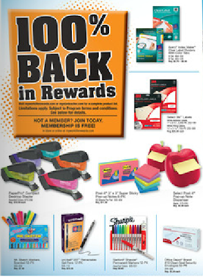 Office Depot 100% Back In Worklife Rewards July, 2012