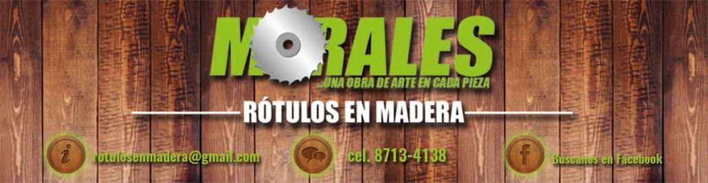 Rótulos en Madera