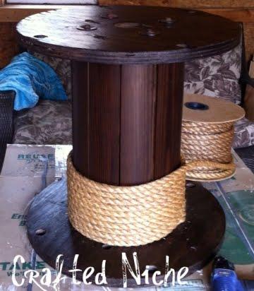 diy rope spool table