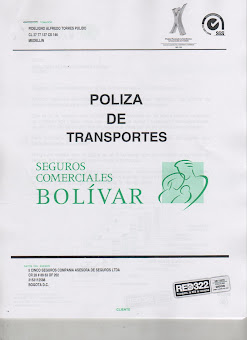 POLIZA DE TRANSPORTE AUTOMATICA PARA CLIENTES SEGUROS BOLIVAR