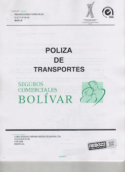 POLIZA DE TRANSPORTE AUTOMATICA PARA CLIENTES SEGUROS BOLIVAR