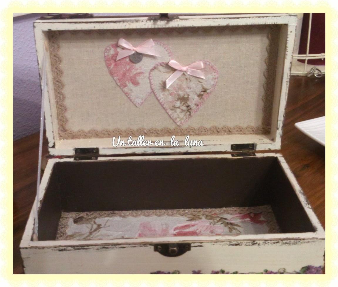 Caja Vintage de madera para bolsitas de te Con tapa de