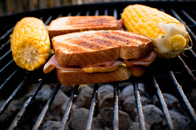 Grilled Grilled Ham & Cheese