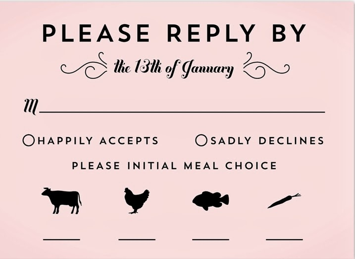RSVP card Wedding guest etiquette