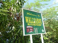"""Place de bem vindo à Walliabou beach, onde foi gravado """"Piratas do Caribe"""""""