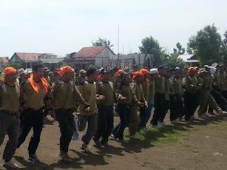 Sebagian peserta Kemah Bhakti PKS Gresik