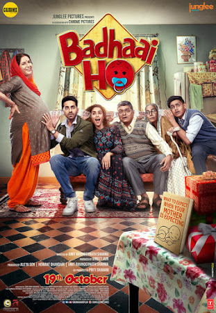 Poster Of Hindi Movie Badhaai Ho 2018 Full HD Movie Free Download 720P Watch Online