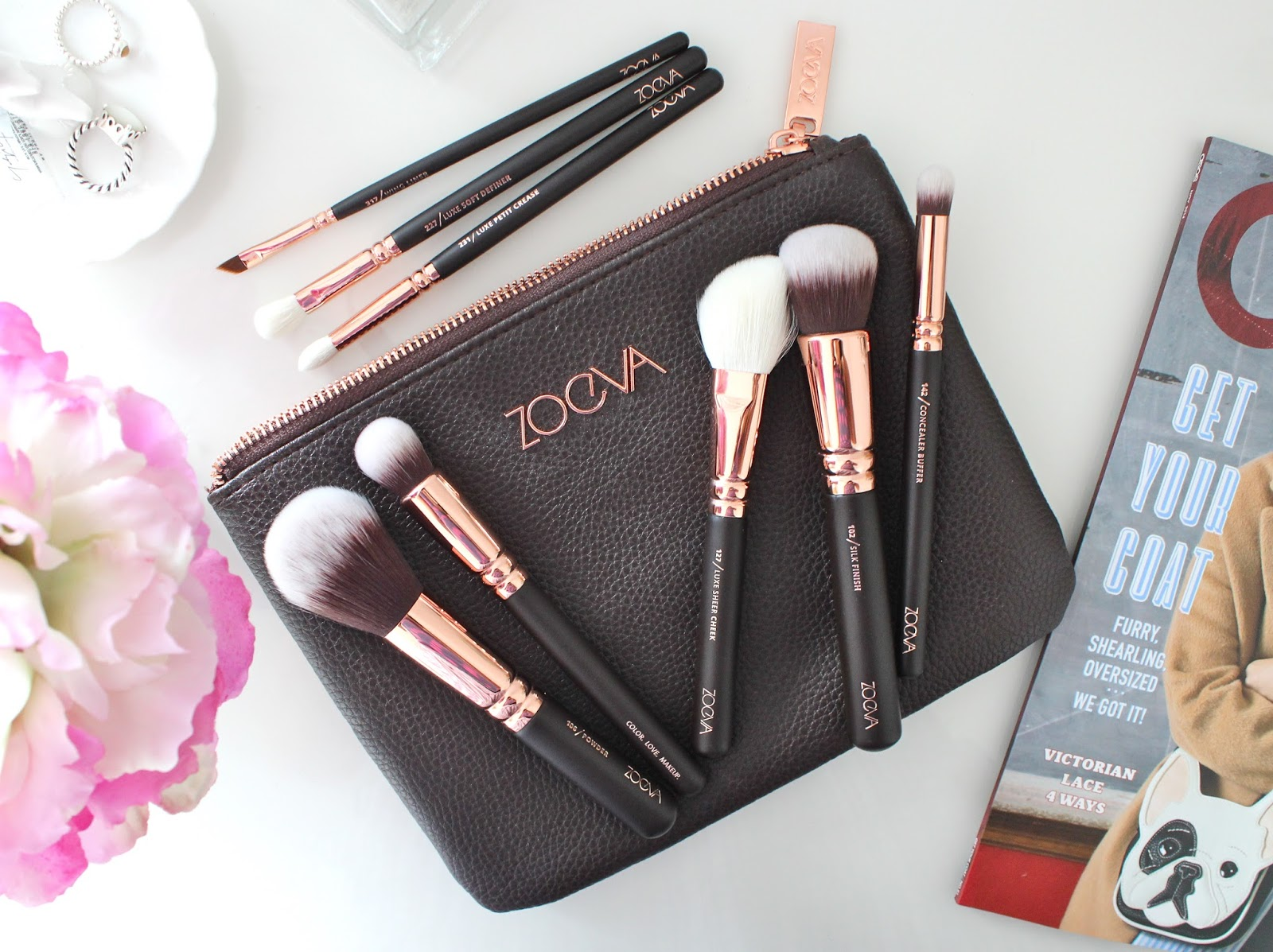 Zoeva Rose Golden Luxury Brush Set, Zoeva Rose Golden Luxury Brush Set Review, Zoeva Makeup Brushes