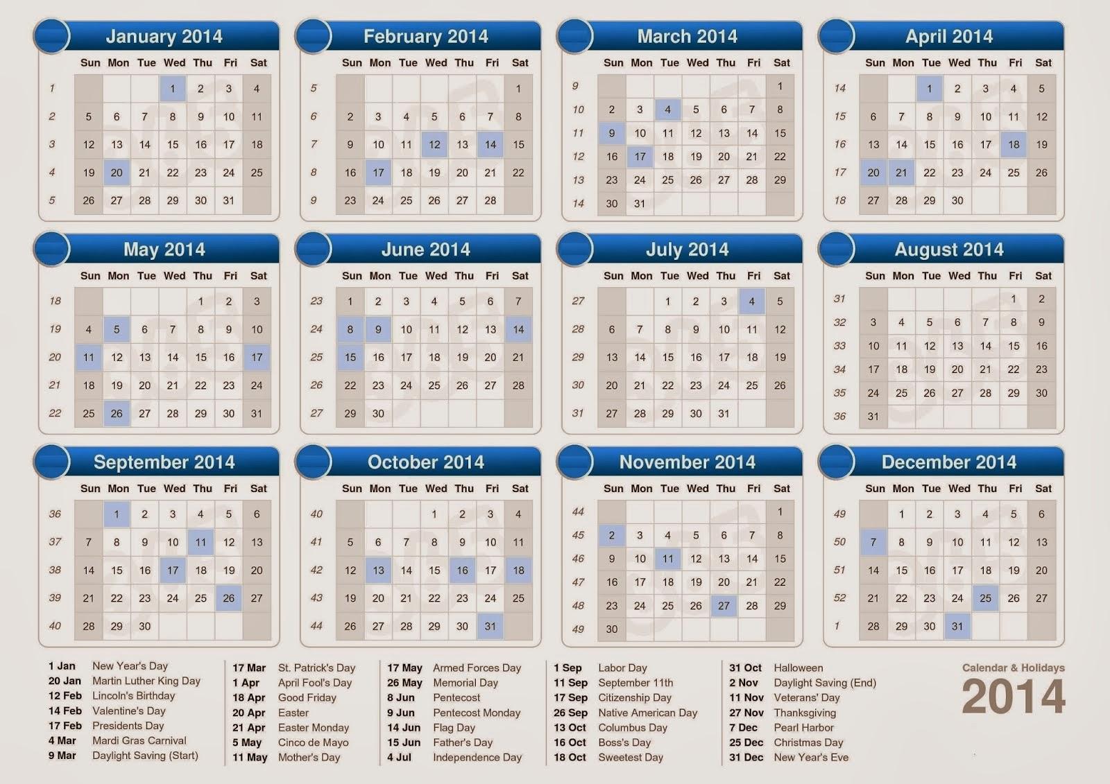 Year Calendar 2014 : Year calendar search results