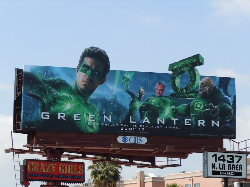 Green Lantern Corps billboard