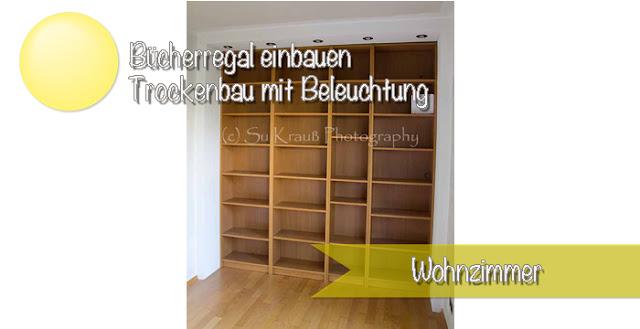 Nische ausnutzen und Bücherregal mit Beleuchtung einbauen