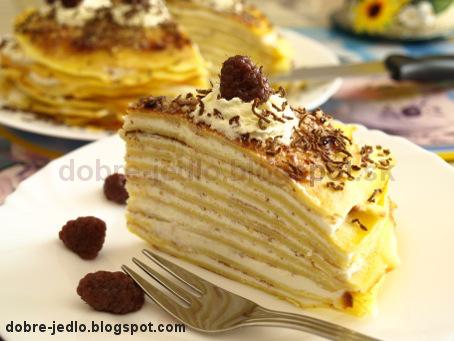 Tvarohová palacinková torta - recepty