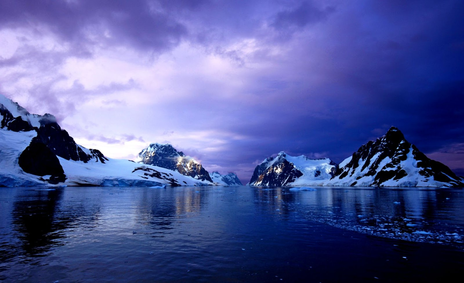 Purple Lemaire Channel Antarctica