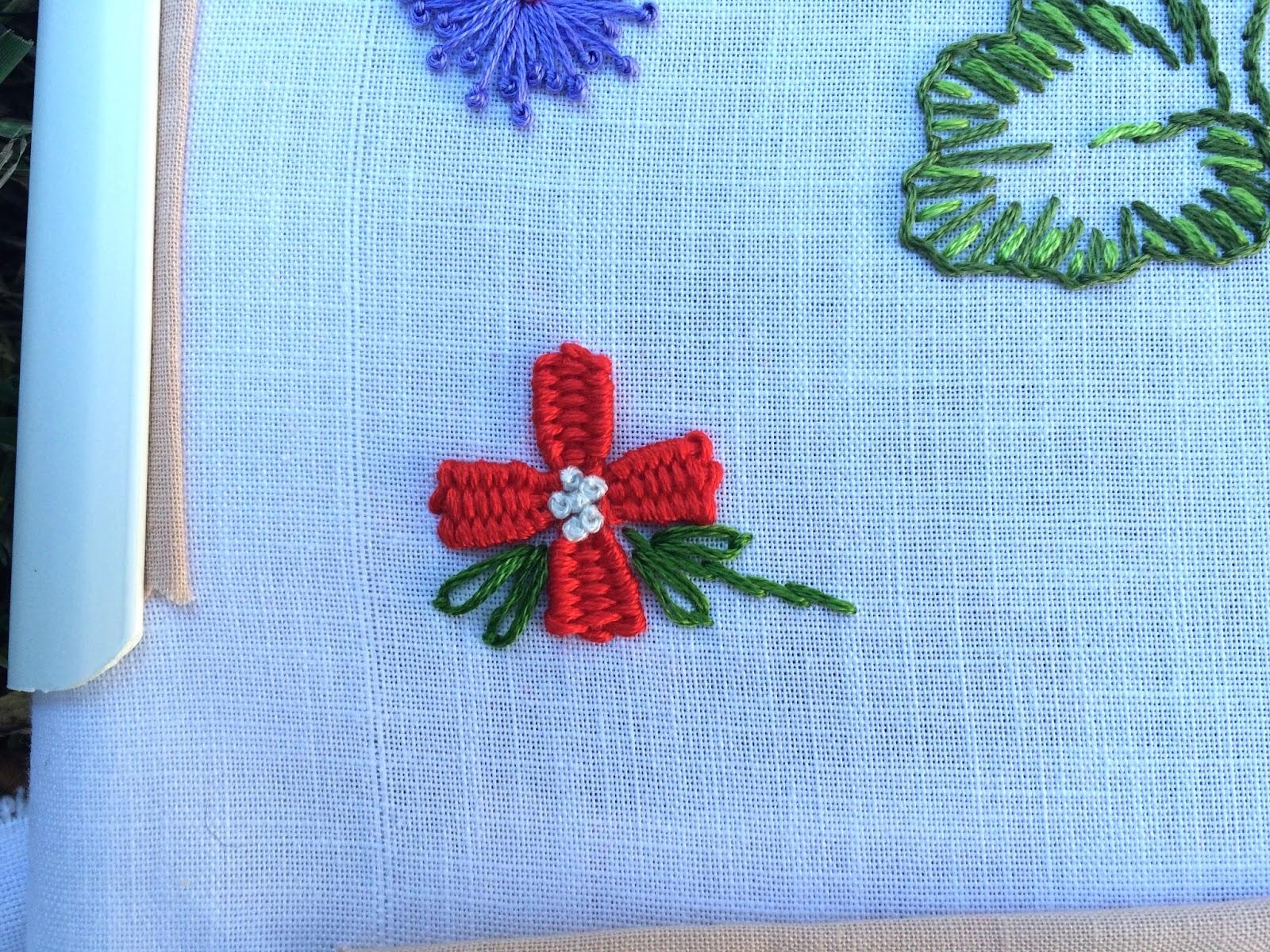 Woven Trellis Stitch Flower