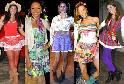roupas básicas femininas para festa junina