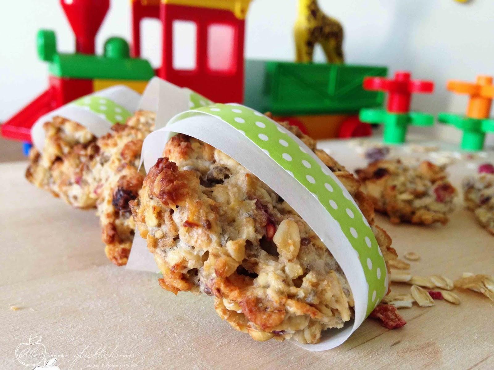 """""""Kinder Cookies to go"""" oder Müsli Kekse mit Beeren"""