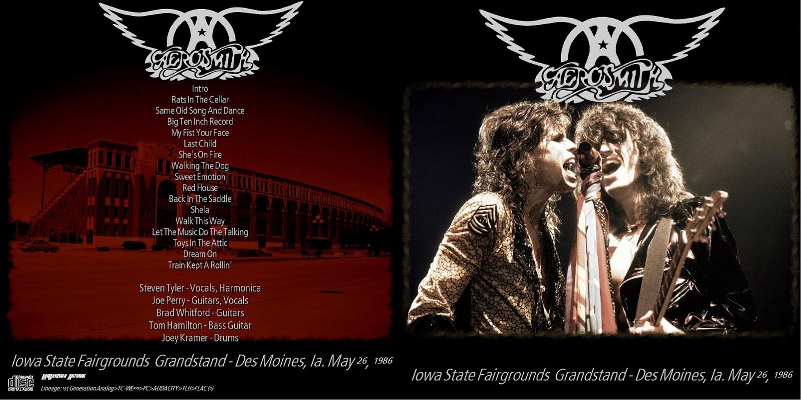T U B E Aerosmith 1986 05 26 Des Moines Ia Aud Flac