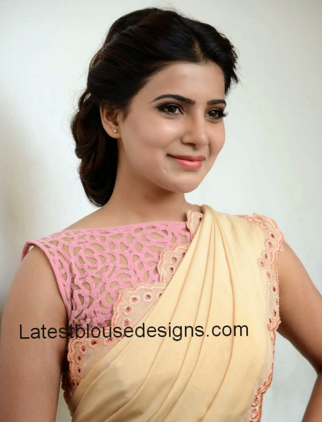 samantha ruth prabhu blouse designs 2014
