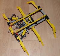 Robot lego hexapode