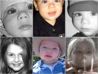 photos of children's eyes